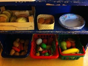 Aardappelen, groente en fruit.